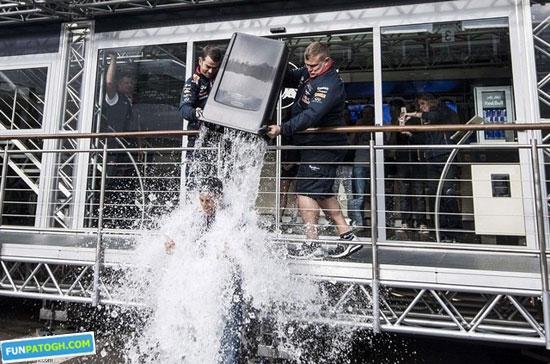 عکس های جالب از چالش سطل یخ
